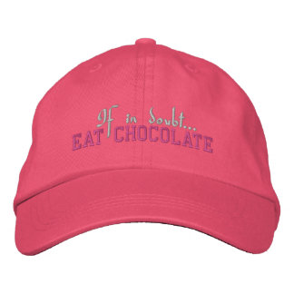 If In Doubt... Eat Chocolate - Embroidered Cap Embroidered Baseball Caps