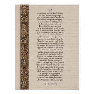 If  inspirational poetry by Rudyard Kipling Poster