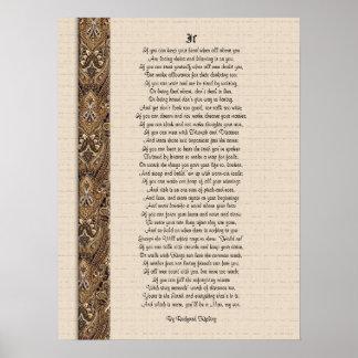 If  inspirational poetry by Rudyard Kipling Print