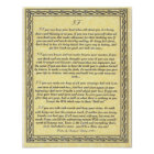 IF Inspiring Poem for Young Men by Rudyard Kipling Poster