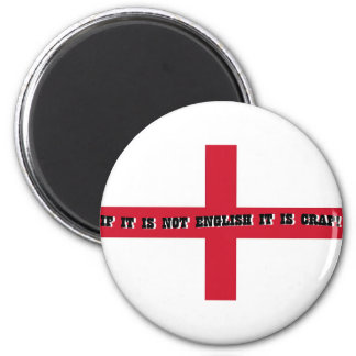 If it is not English... 6 Cm Round Magnet