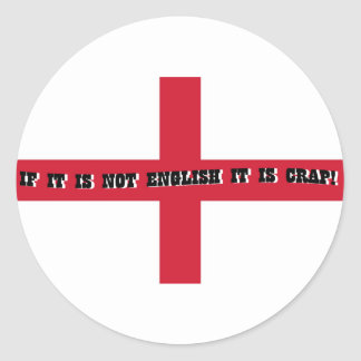 If it is not English... Round Sticker