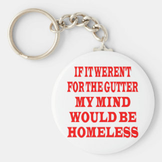 If It Weren't For Gutter My Mind Would be Homeless Basic Round Button Key Ring