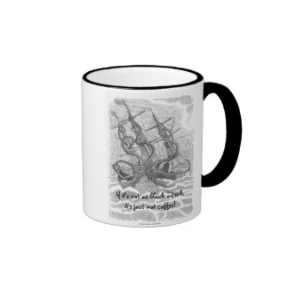 If its not as black as ink-its just not Coffee! Ringer Mug