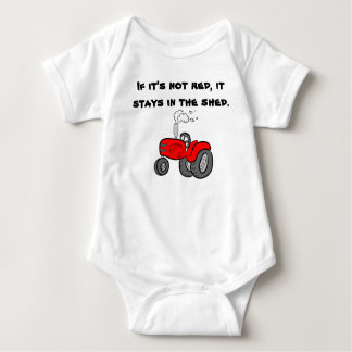 If it's not red Case International Tractor Baby Bodysuit