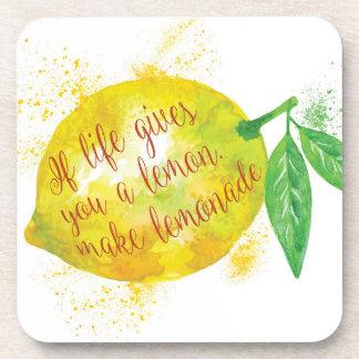 If Life Gives You A Lemon, Make Lemonade Drink Coasters