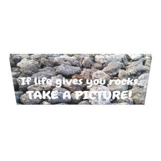 If life gives you rocks Cool Rocks Photo Canvas Print