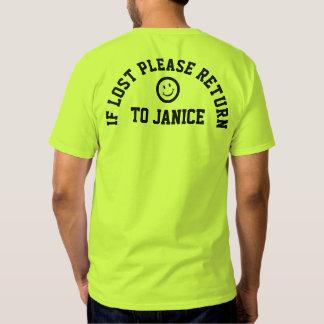If lost please return fun slogan tee shirt