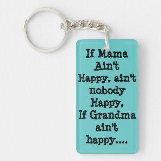 If Mama ain't happy Key Ring