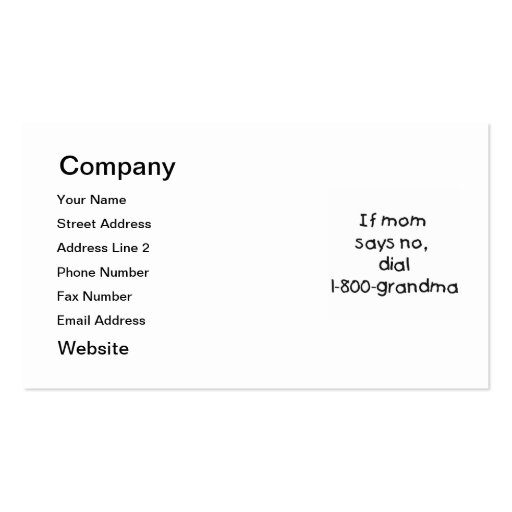 if mom says no...(black) business card templates