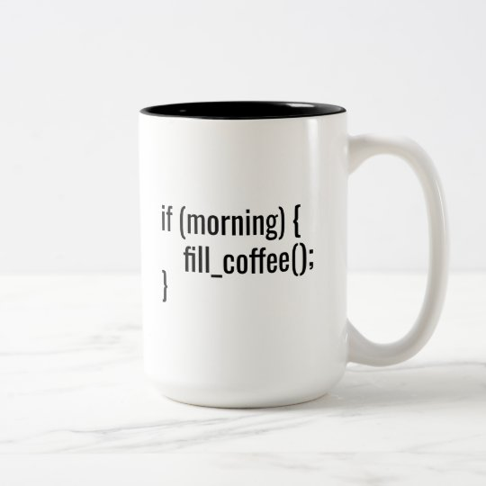 If Morning Fill Coffee Funny Programmer Coder html