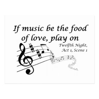 If Music be the Food of Love, Play On! Postcard