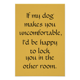If my dog, poster