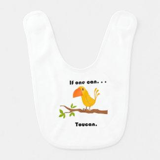 If One Can. . .Toucan Cartoon Bibs