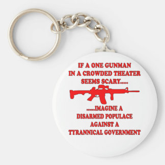 If One Gunman In A Theater Is Scary Imagine A Basic Round Button Key Ring