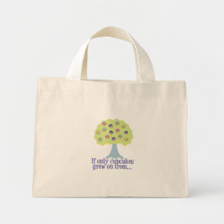 If only Cupcakes on Trees Mini Tote Bag