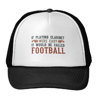 If Playing Clarinet Were easy Mesh Hat