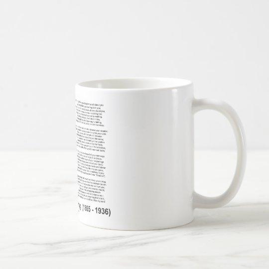 """""""If— """" Poem By Rudyard Kipling Coffee Mug"""