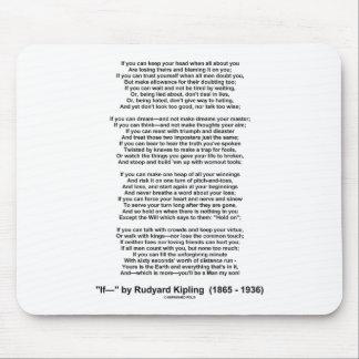 If Poem By Rudyard Kipling (Inspirational Poem) Mouse Pad