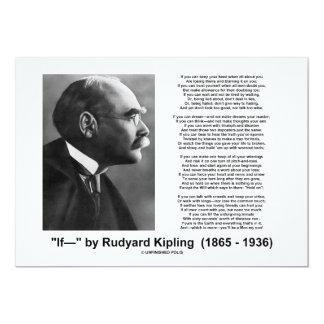 """""""If— """" Poem By Rudyard Kipling Invite"""