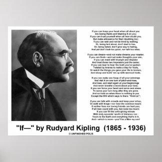 If Poem By Rudyard Kipling (Kipling Picture) Print