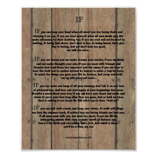 IF Quote by Rudyard Kipling 1895 on Barn