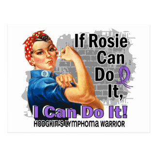 If Rosie Can Do It Hodgkin s Lymphoma Warrior Post Card