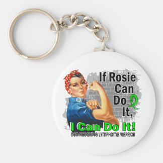 If Rosie Can Do It Non-Hodgkin's Lymphoma Warrior Basic Round Button Key Ring