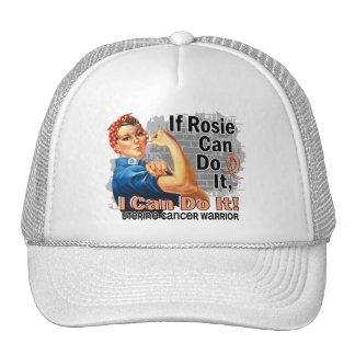 If Rosie Can Do It Uterine Cancer Warrior Trucker Hats