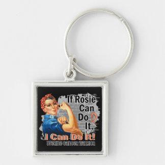 If Rosie Can Do It Uterine Cancer Warrior Keychains