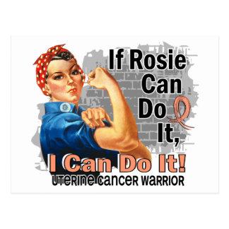 If Rosie Can Do It Uterine Cancer Warrior Postcard