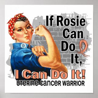 If Rosie Can Do It Uterine Cancer Warrior Poster