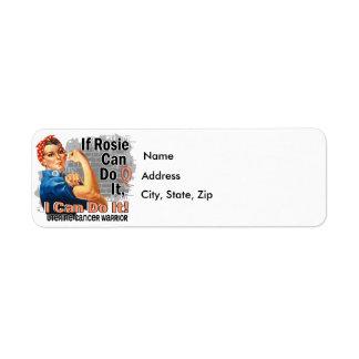 If Rosie Can Do It Uterine Cancer Warrior Return Address Label