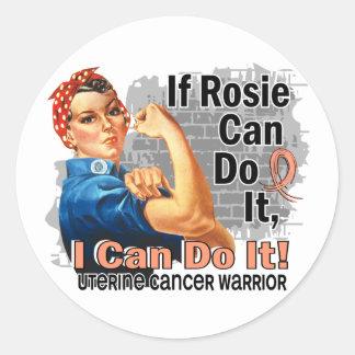 If Rosie Can Do It Uterine Cancer Warrior Sticker