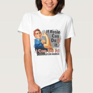 If Rosie Can Do It Uterine Cancer Warrior T-shirts