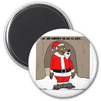 If Santa Clause The Bear Fun Christmas Gifts Tees 6 Cm Round Magnet