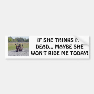 IF SHE THINKS I'M DEAD... MAYBE SHE ... BUMPER STICKER