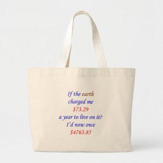 If the earth charged me ... 65 jumbo tote bag