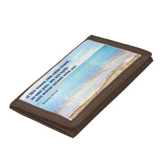 If the ocean... trifold wallets