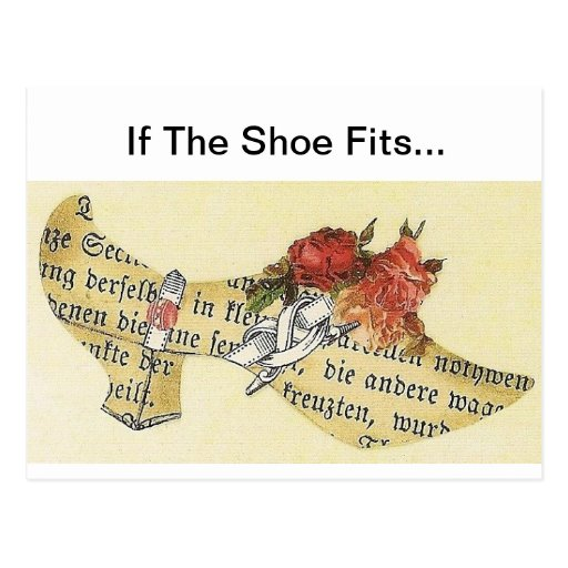 If The Shoe Fits... Cinderella Slipper Post Card