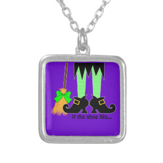 If The Shoe Fits Green Personalized Necklace