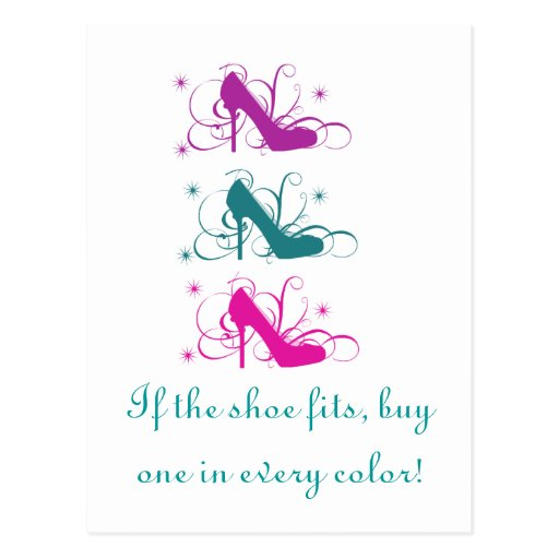 If The Shoe Fits Postcard