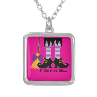 If The Shoe Fits Purple Custom Necklace