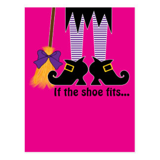 If The Shoe Fits Purple Postcards
