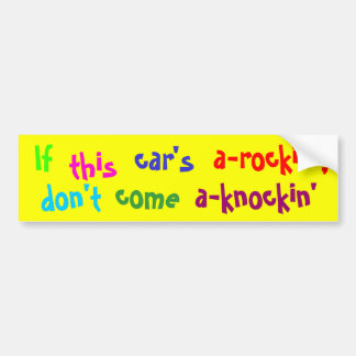 If this car's bumper sticker