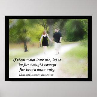 If thou love me - art print