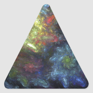 If Van Gogh Painted Fractals Triangle Sticker