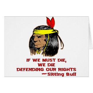 If We Must Die We Die Defending Our Rights Greeting Card