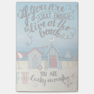 If You Are Lucky Enough To Live At The Beach Post-it® Notes