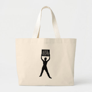 If you can read this sign_Girl Tote Bags